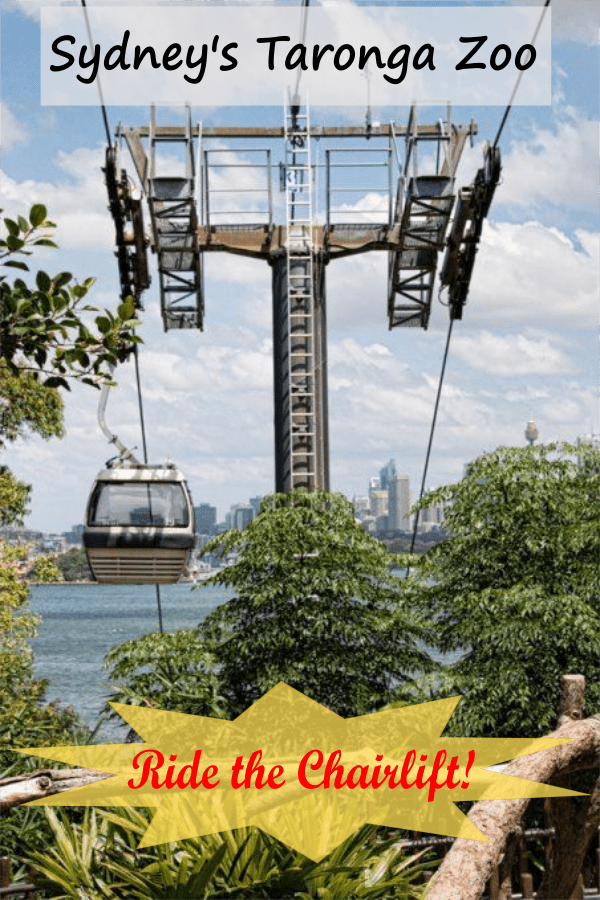 taronga zoo chairlift